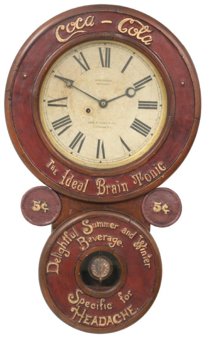Extremely Rare Baird Coca-Cola Advertising Clock