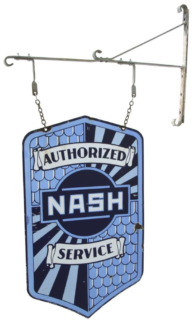 Nash Service Double Sided Porcelain Sign