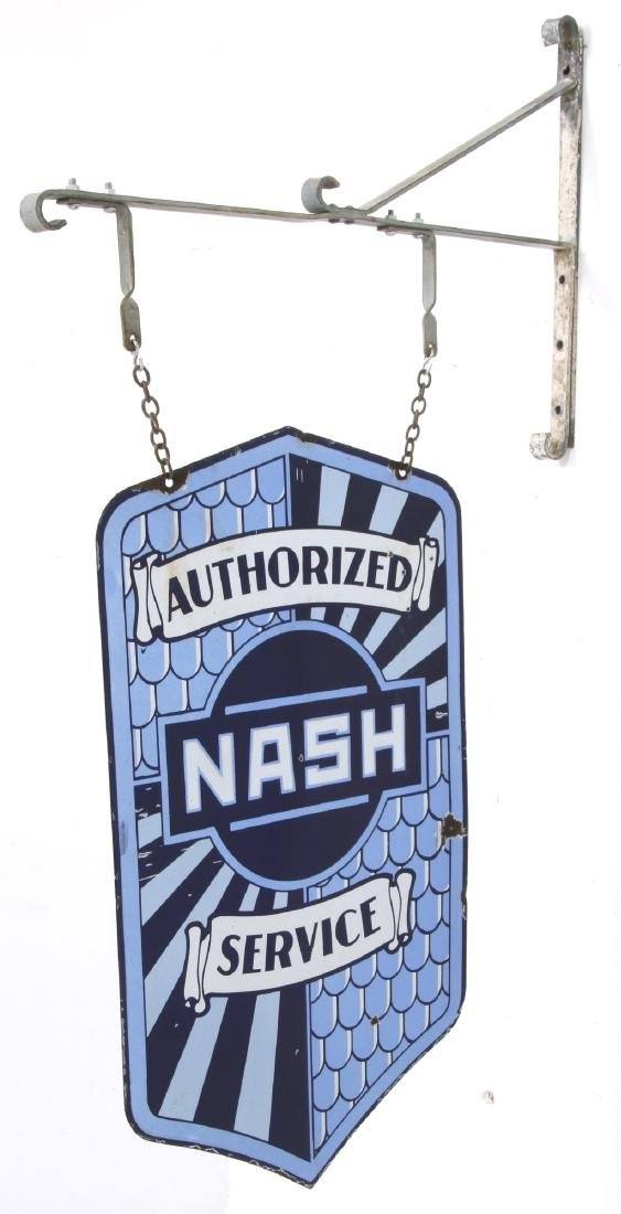 Nash Service Double Sided Porcelain Sign - 2
