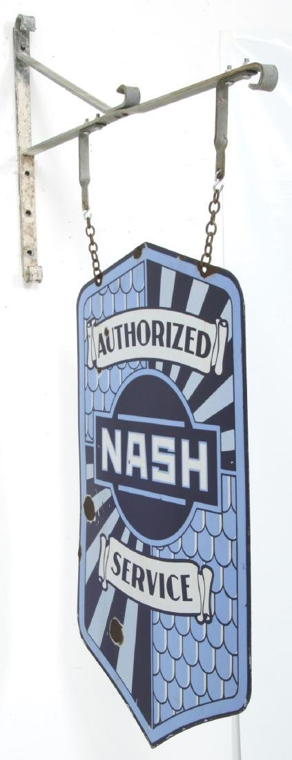 Nash Service Double Sided Porcelain Sign - 3