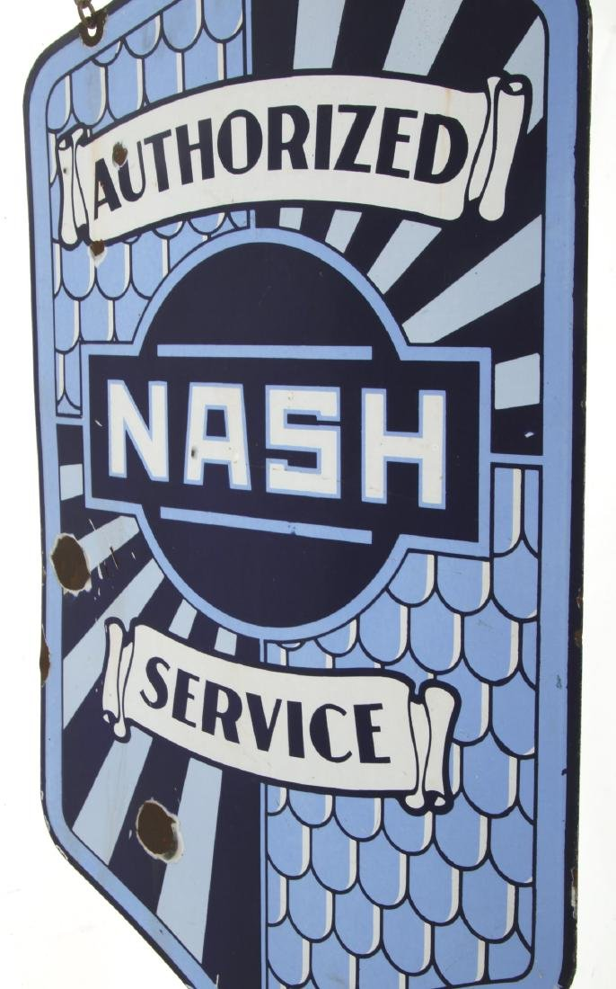 Nash Service Double Sided Porcelain Sign - 4