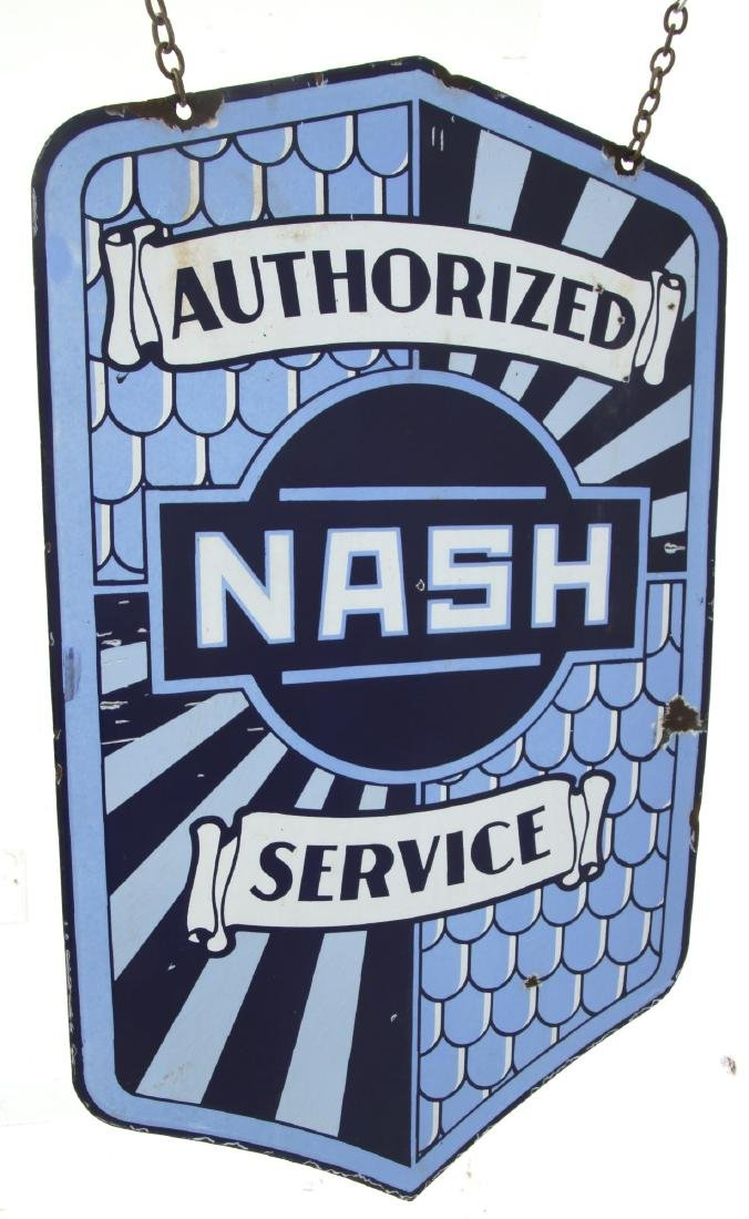 Nash Service Double Sided Porcelain Sign - 9
