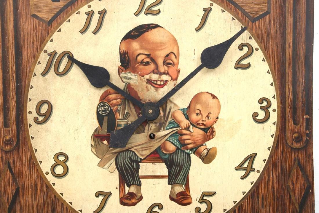 Gem Damaskeene Razor Advertising Wall Clock - 3