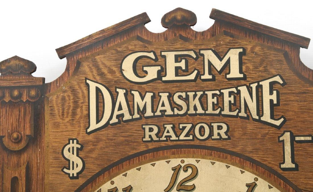 Gem Damaskeene Razor Advertising Wall Clock - 4