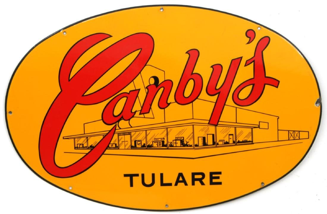 Canby's Advertising Porcelain Sign