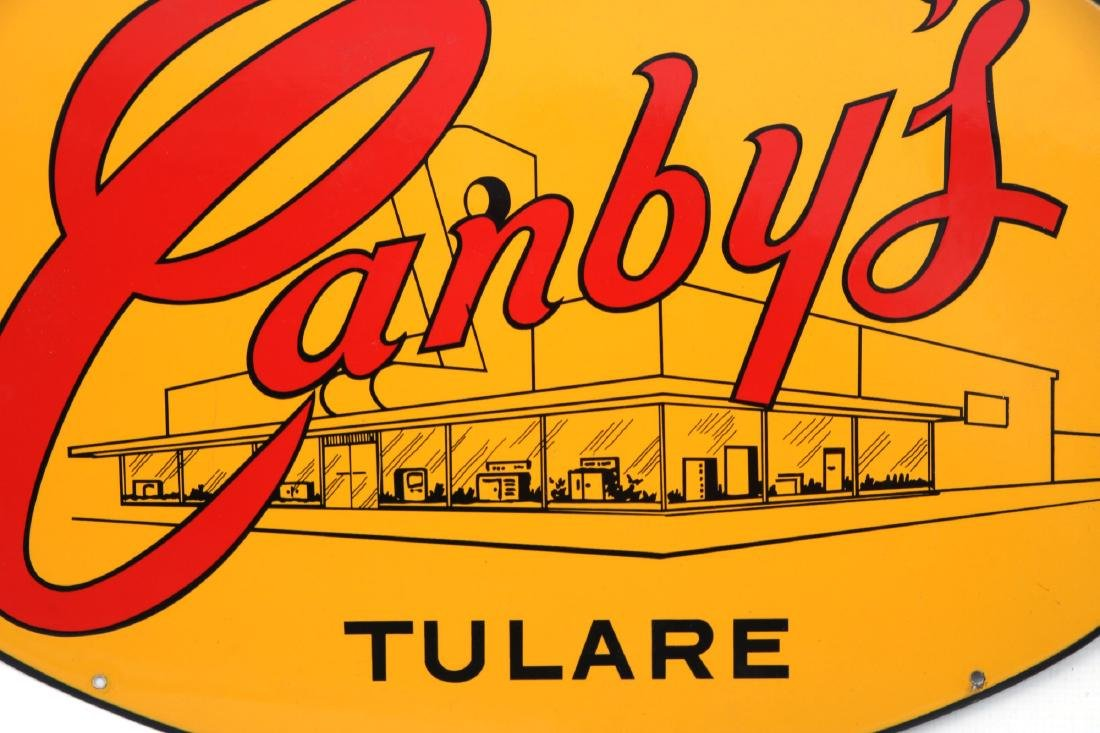 Canby's Advertising Porcelain Sign - 2