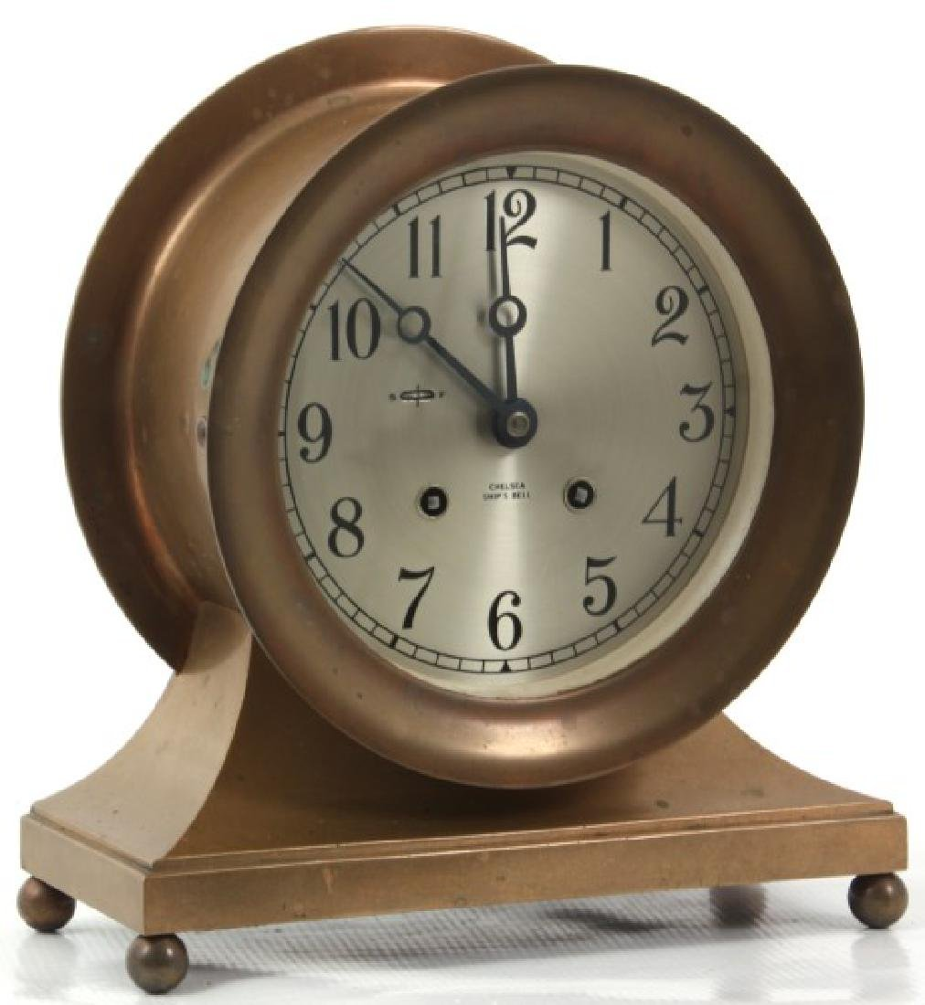 Chelsea Ship's Bell Mantle Clock - 2