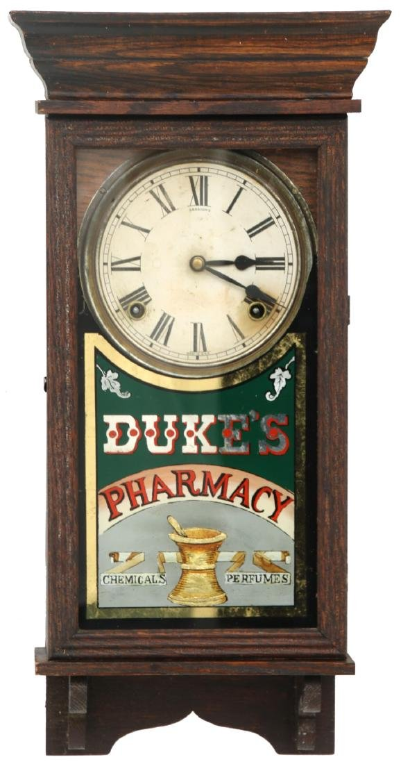 Duke's Pharmacy Session Advertising Clock