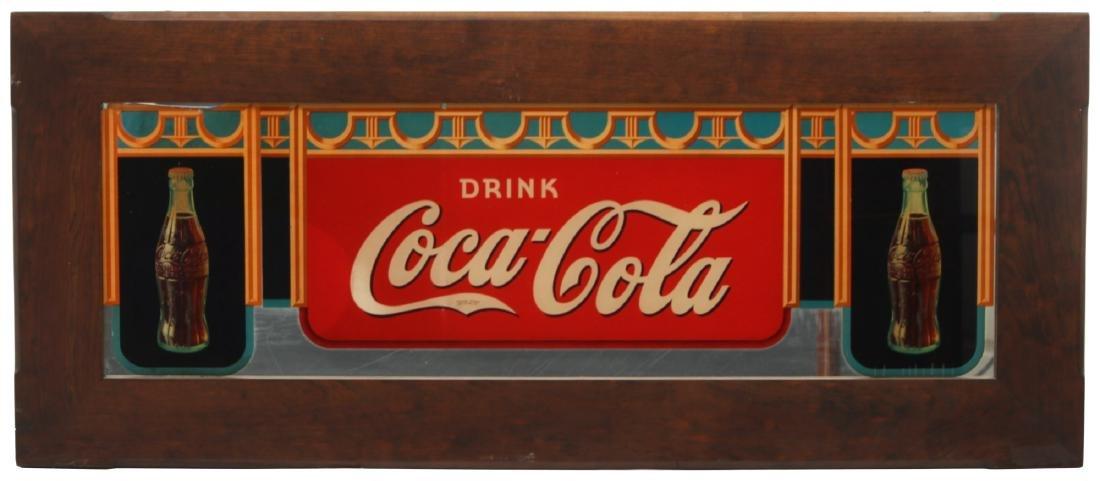Framed Coca-Cola Advertising Mirror