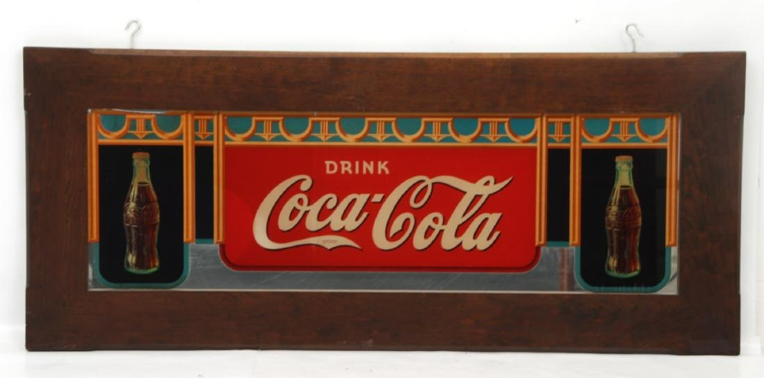 Framed Coca-Cola Advertising Mirror - 2