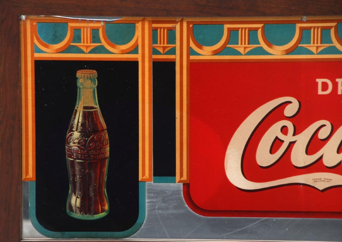 Framed Coca-Cola Advertising Mirror - 3
