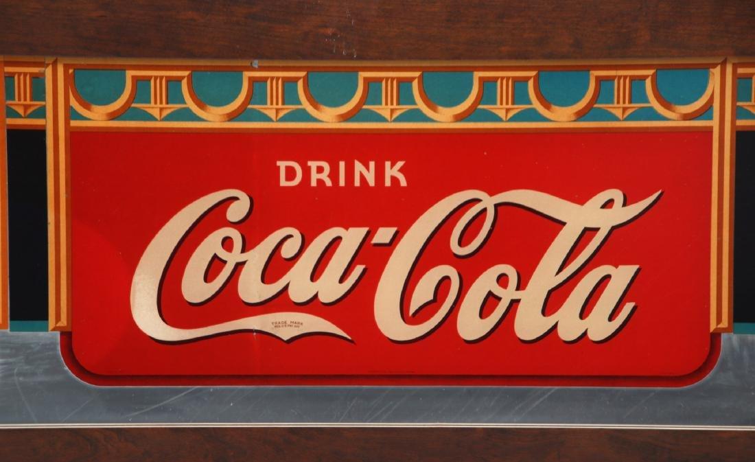 Framed Coca-Cola Advertising Mirror - 4