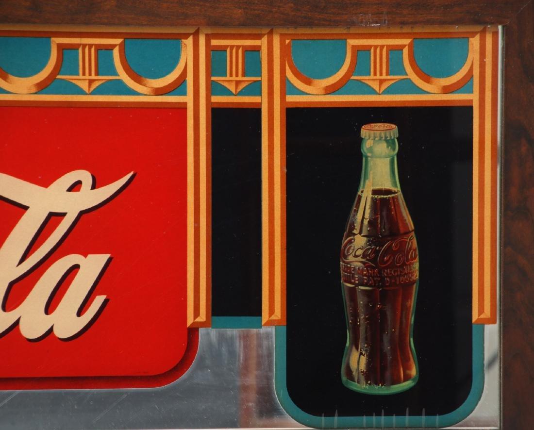 Framed Coca-Cola Advertising Mirror - 5
