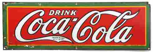 Drink Coca-Cola Advertising Porcelain Sign