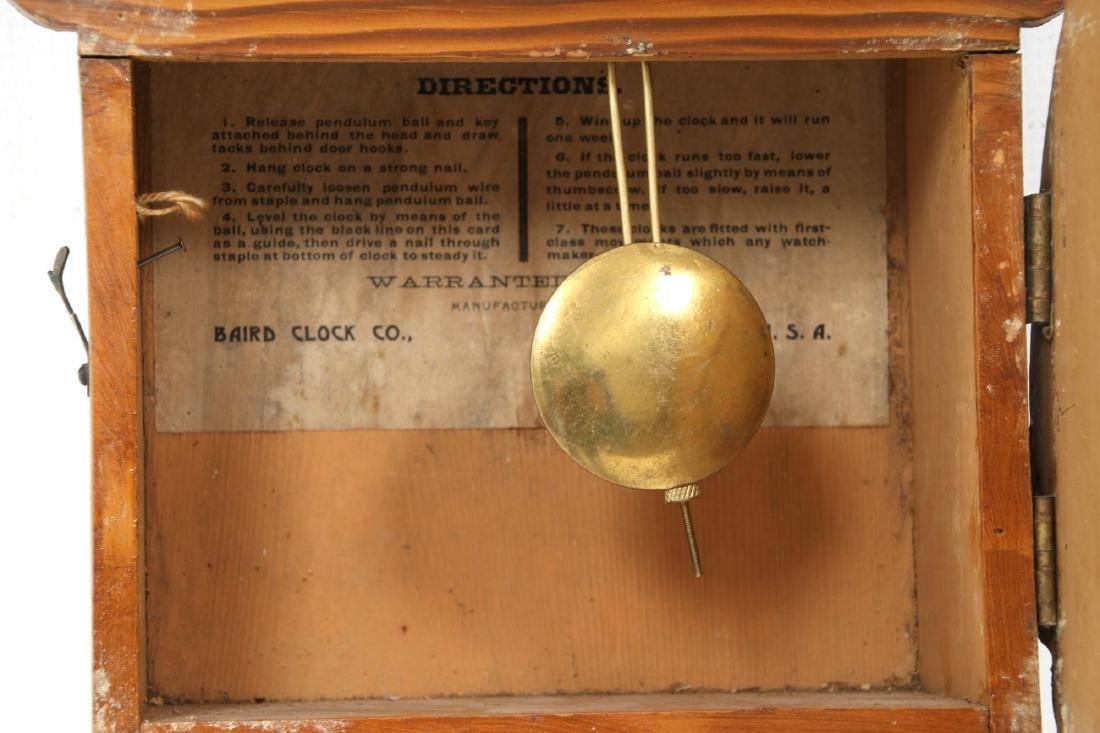 Rare Baird Miniature Figure Eight Wall Clock - 7