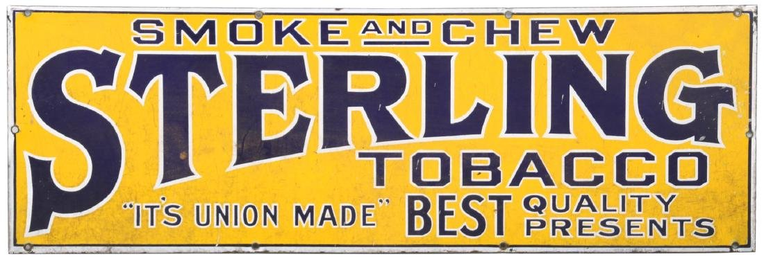Sterling Tobacco Advertising Porcelain Sign