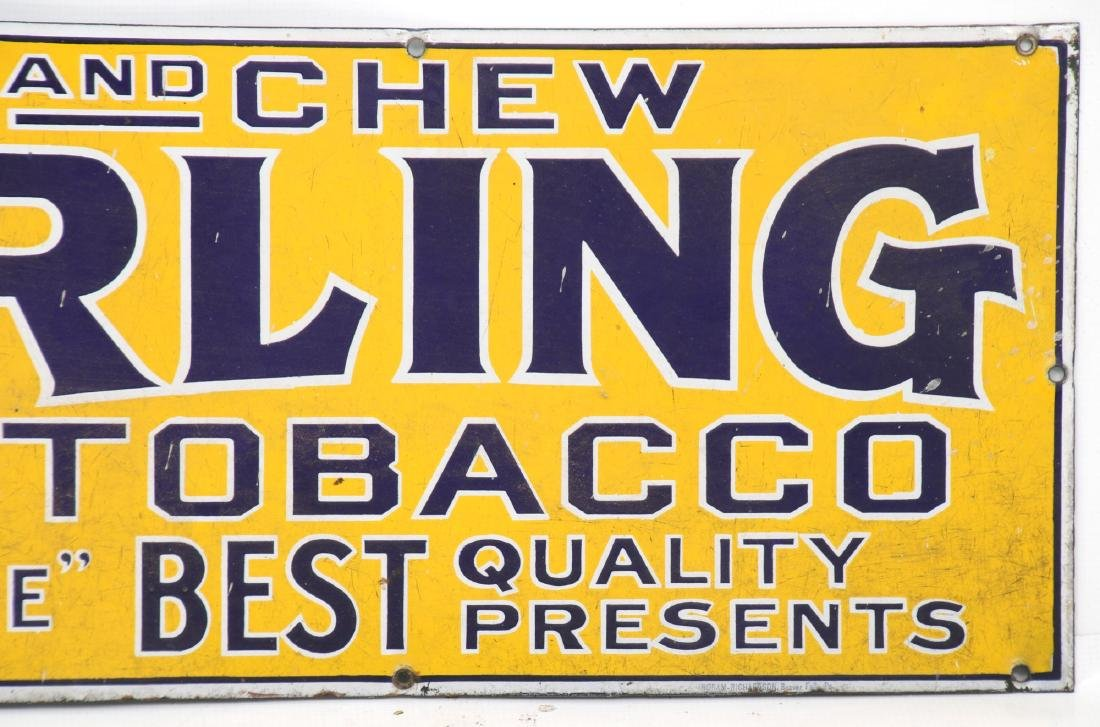 Sterling Tobacco Advertising Porcelain Sign - 3