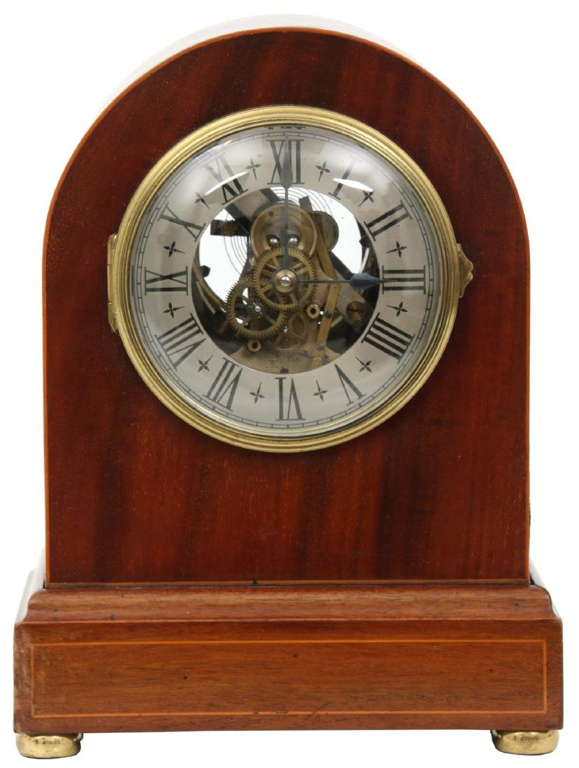 Attr. Eureka Electric Mahogany Mantle Clock