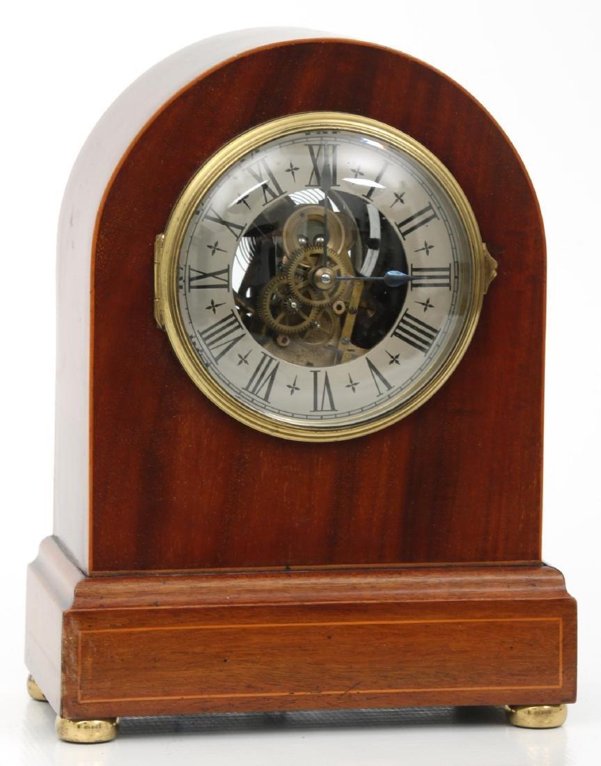 Attr. Eureka Electric Mahogany Mantle Clock - 2
