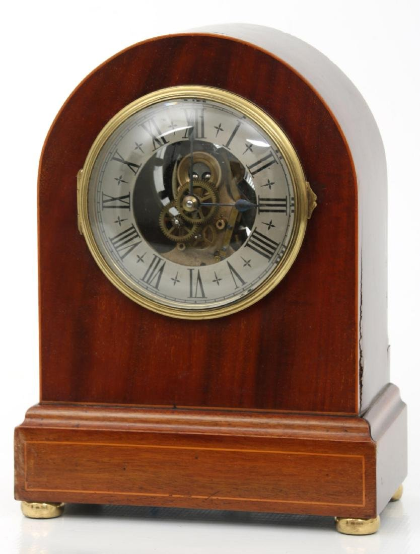 Attr. Eureka Electric Mahogany Mantle Clock - 3