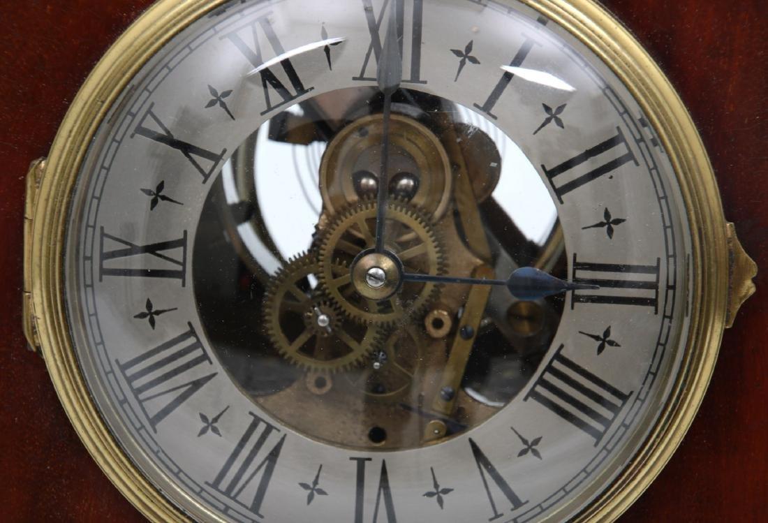 Attr. Eureka Electric Mahogany Mantle Clock - 5