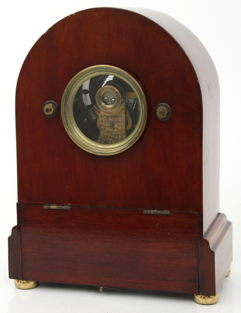 Attr. Eureka Electric Mahogany Mantle Clock - 8