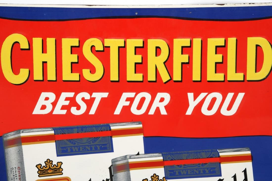 Chesterfield Cigarettes Embossed Advertising Sign - 2