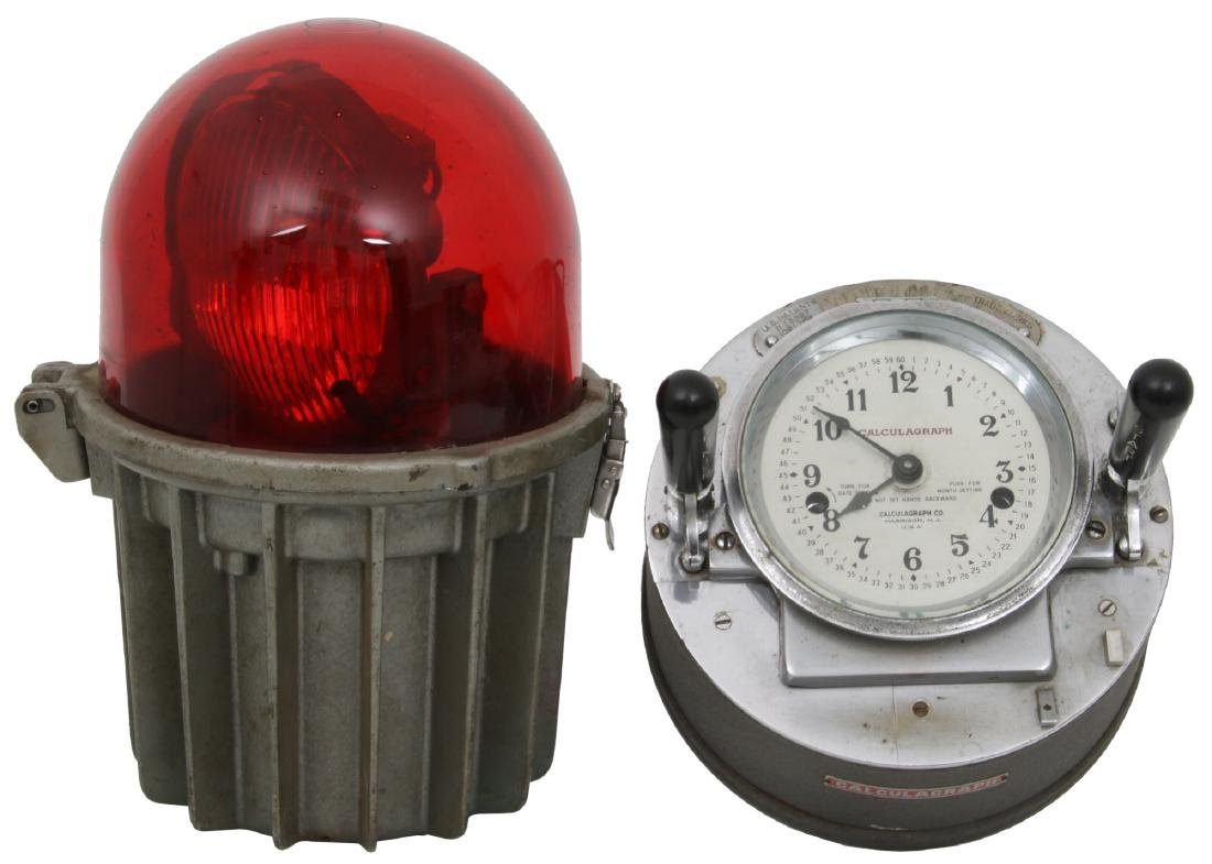 2 Pcs. Calculagraph and Revolving Marine Lantern