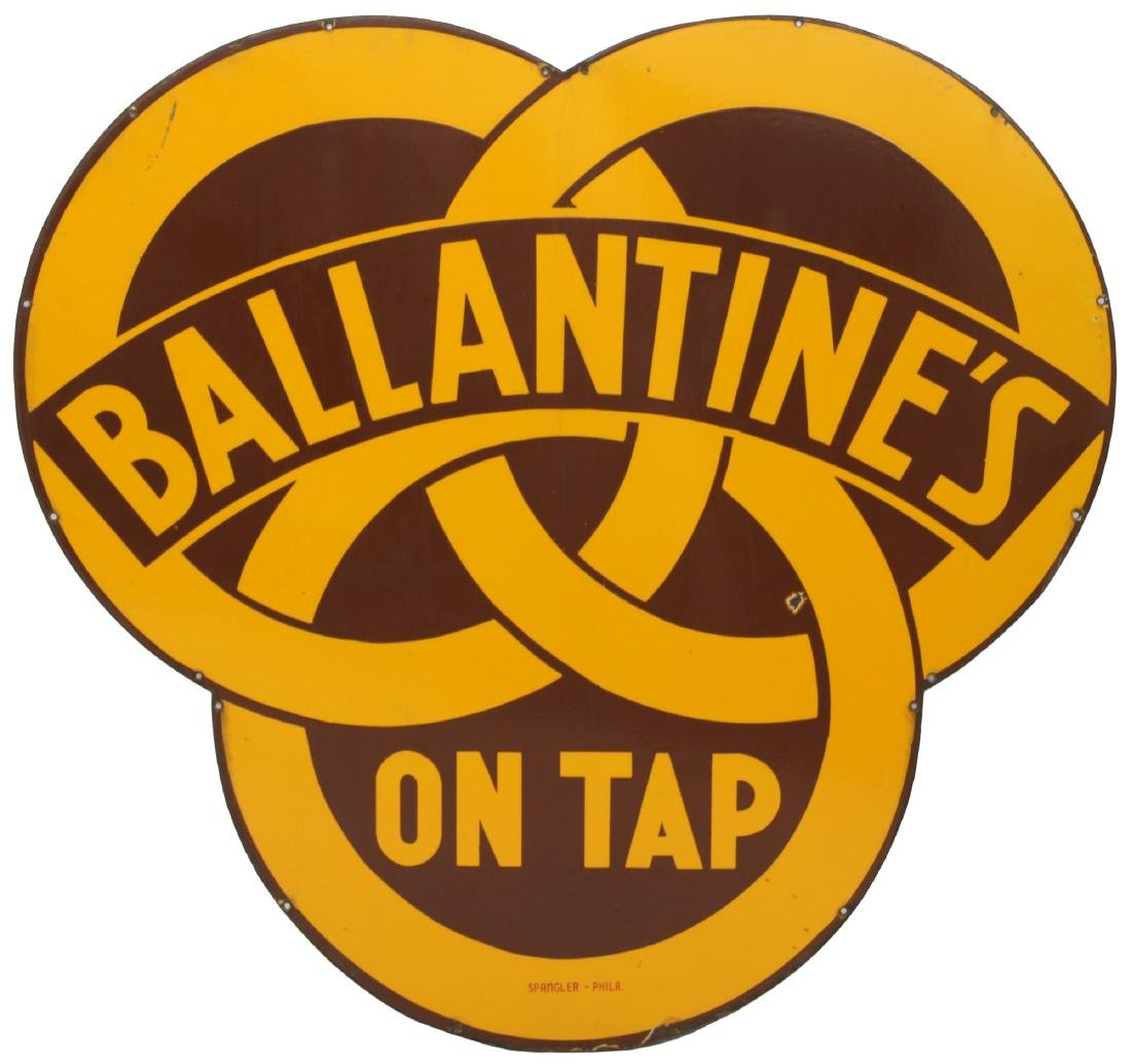 Ballantine's Porcelain Advertising Sign