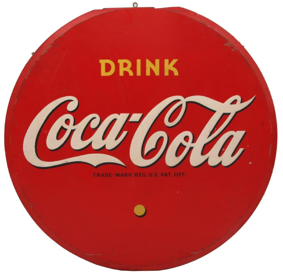 Wooden Coca-Cola Advertising Sign