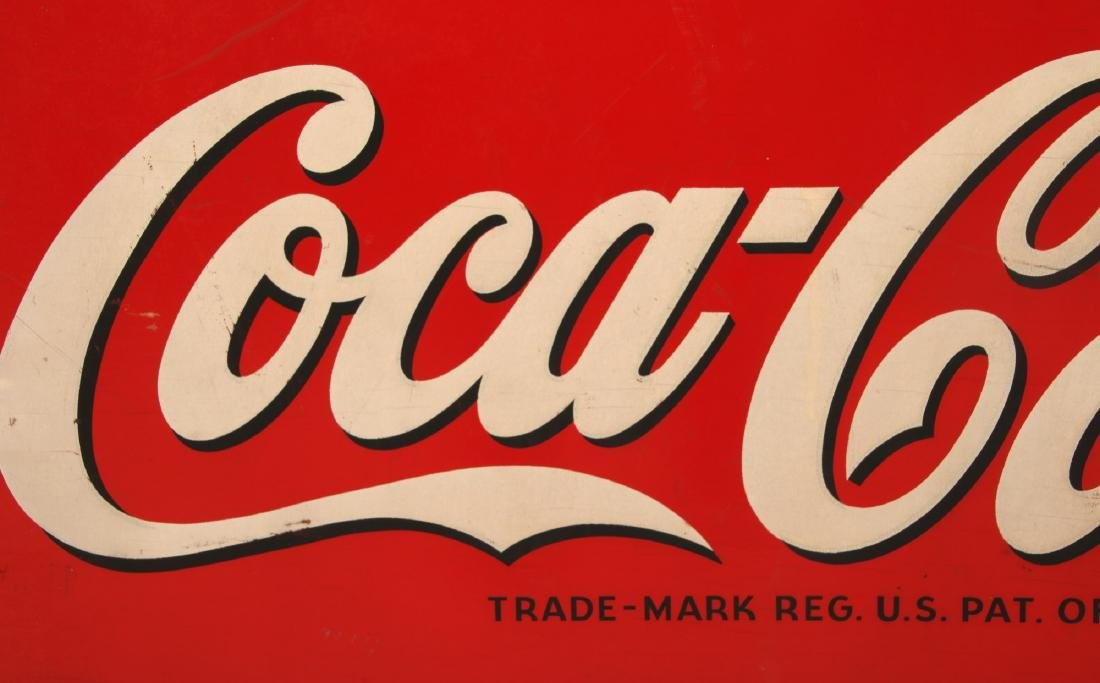Wooden Coca-Cola Advertising Sign - 2
