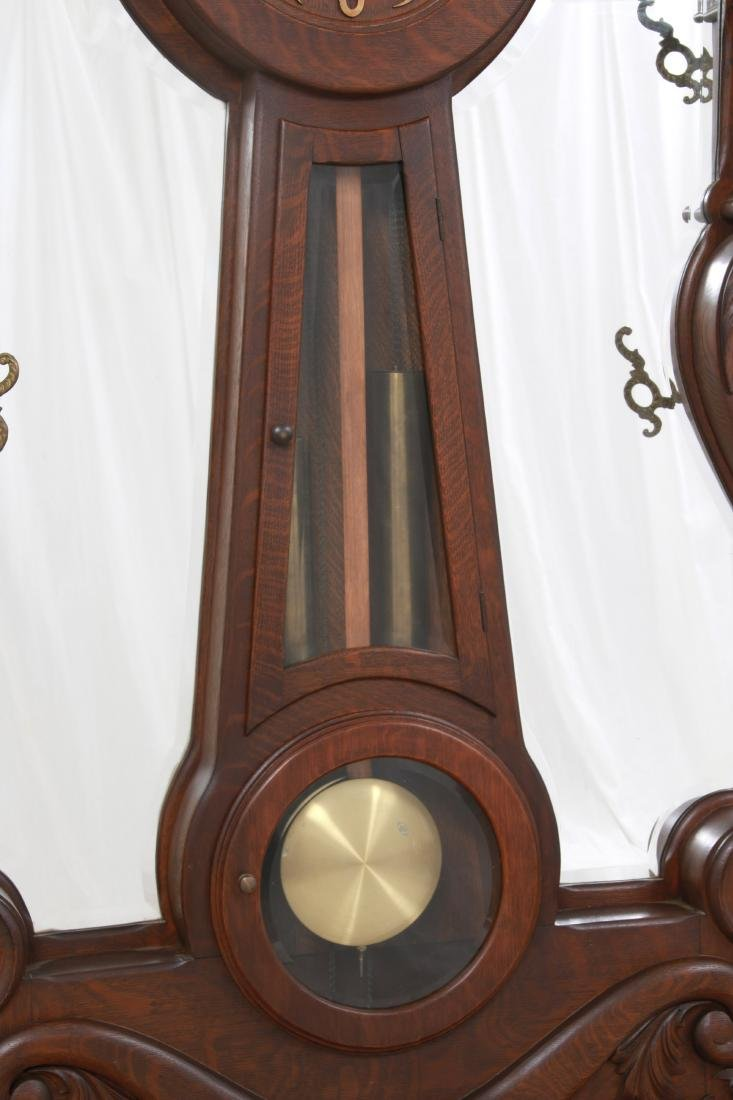 Oak Waterbury Halltree Clock - 3