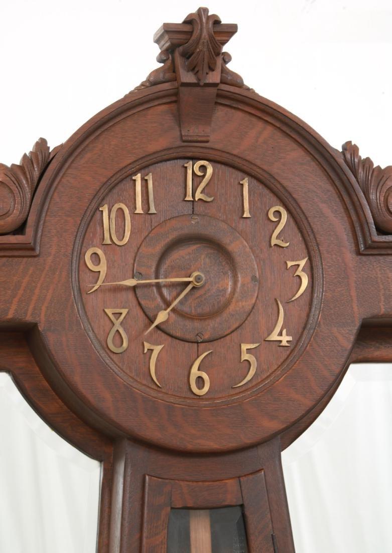 Oak Waterbury Halltree Clock - 4