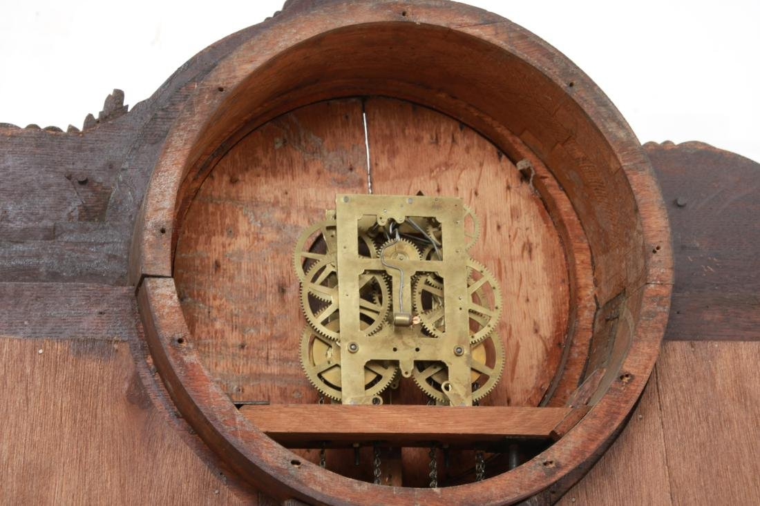 Oak Waterbury Halltree Clock - 9