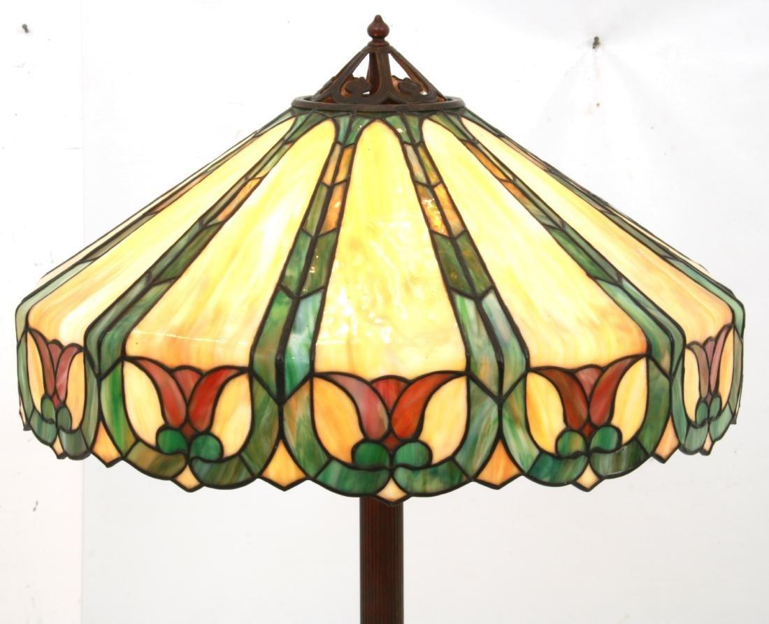 23 in. Handel Leaded Tulip Floor Lamp - 3