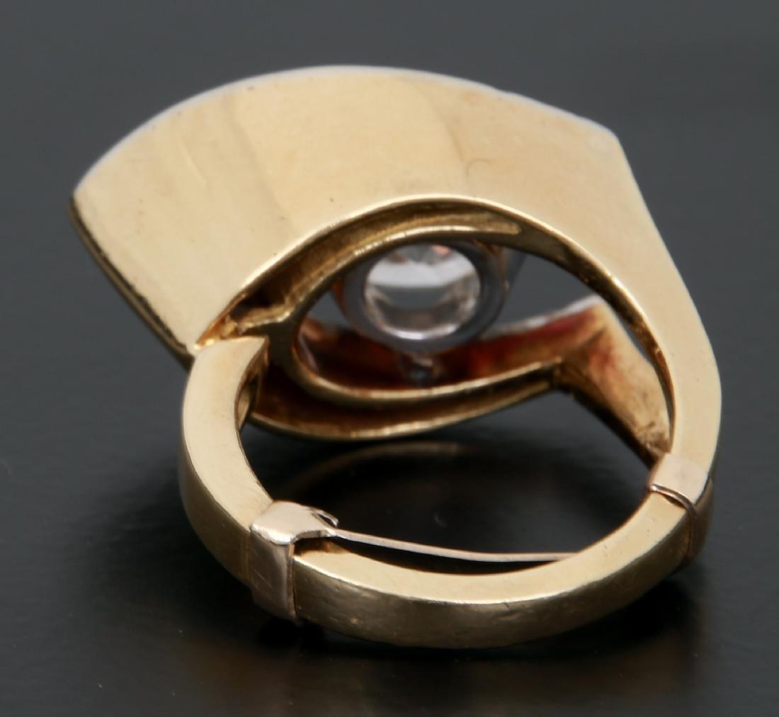 3 Ct. Diamond & 18K Gold Ring - 4
