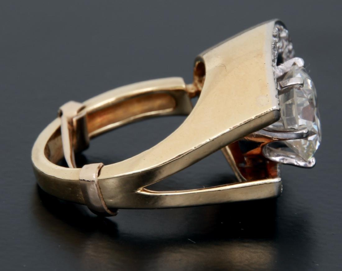 3 Ct. Diamond & 18K Gold Ring - 5