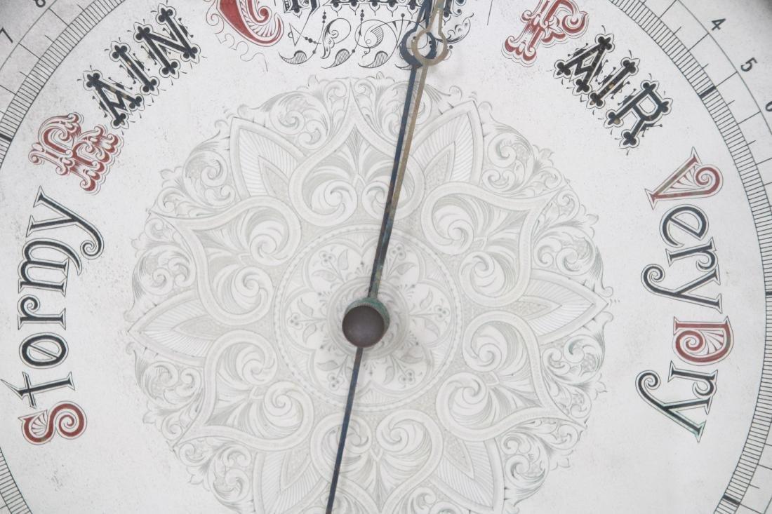 Monumental Oak Double Fusee Wall Clock & Barometer - 7