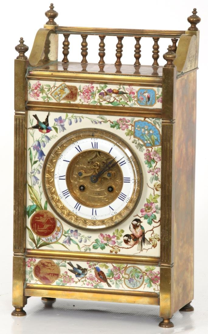 Aesthetic Tile Front Mantle Clock - 10