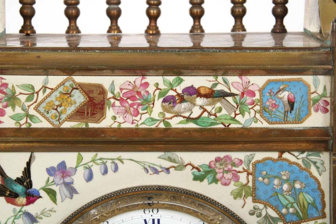 Aesthetic Tile Front Mantle Clock - 5