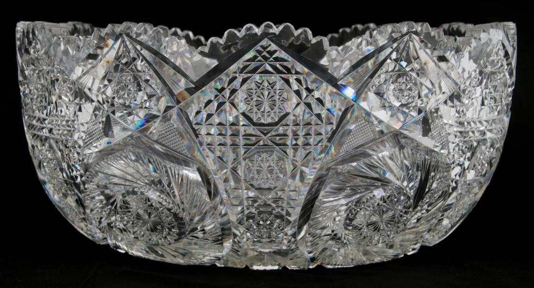 20 Pcs. Brilliant Cut Glass Punch Bowl Set - 3