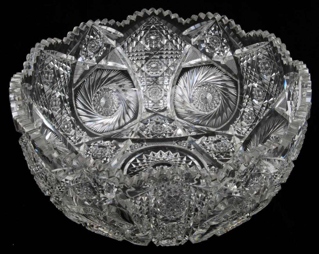 20 Pcs. Brilliant Cut Glass Punch Bowl Set - 4
