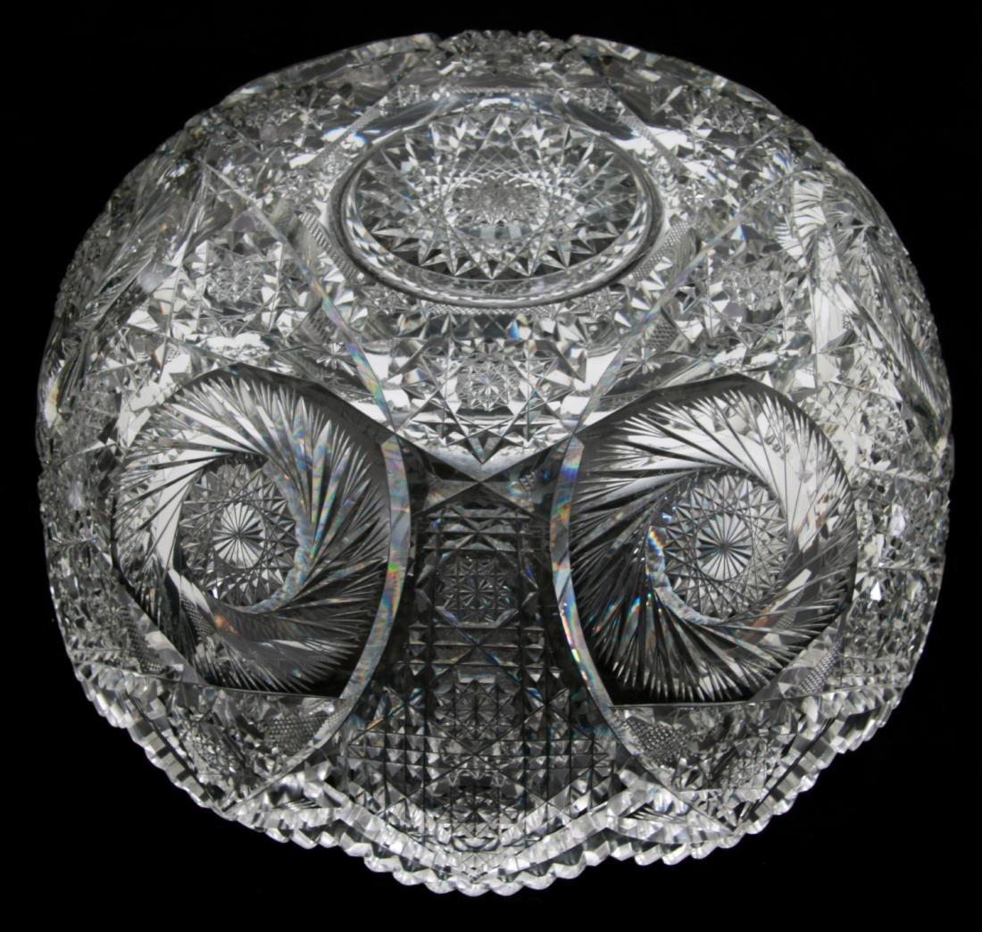 20 Pcs. Brilliant Cut Glass Punch Bowl Set - 7