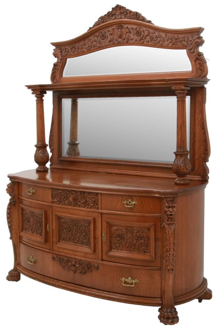 American Carved Quartersawn Oak Sideboard  sc 1 st  LiveAuctioneers & Vintage Sideboards u0026 Buffets for Sale u0026 Antique Sideboards u0026 Buffets