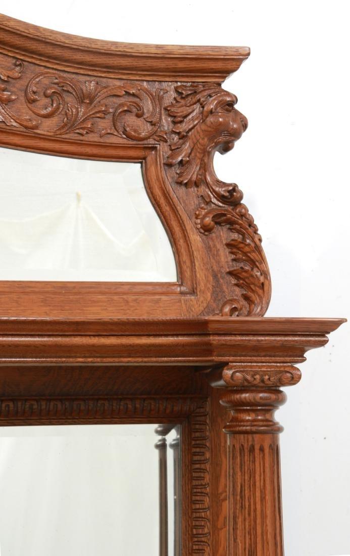 American Carved Quartersawn Oak Sideboard - 4
