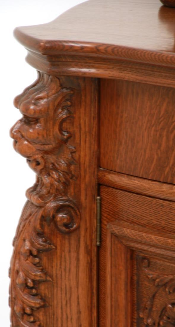American Carved Quartersawn Oak Sideboard - 6