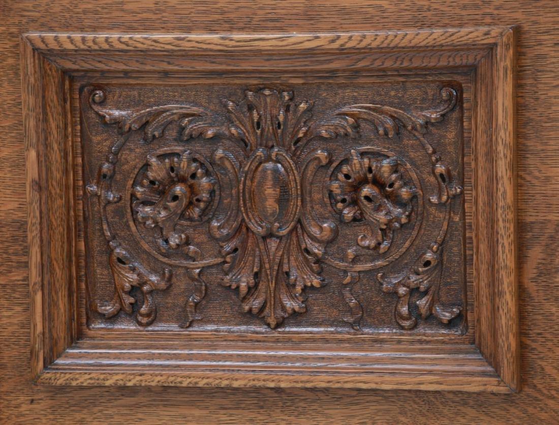 American Carved Quartersawn Oak Sideboard - 7
