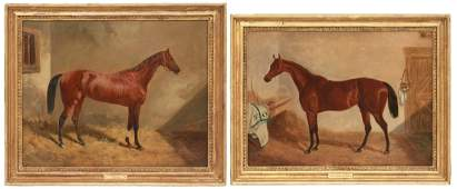 2 John F. Herring O/C Horse Portraits
