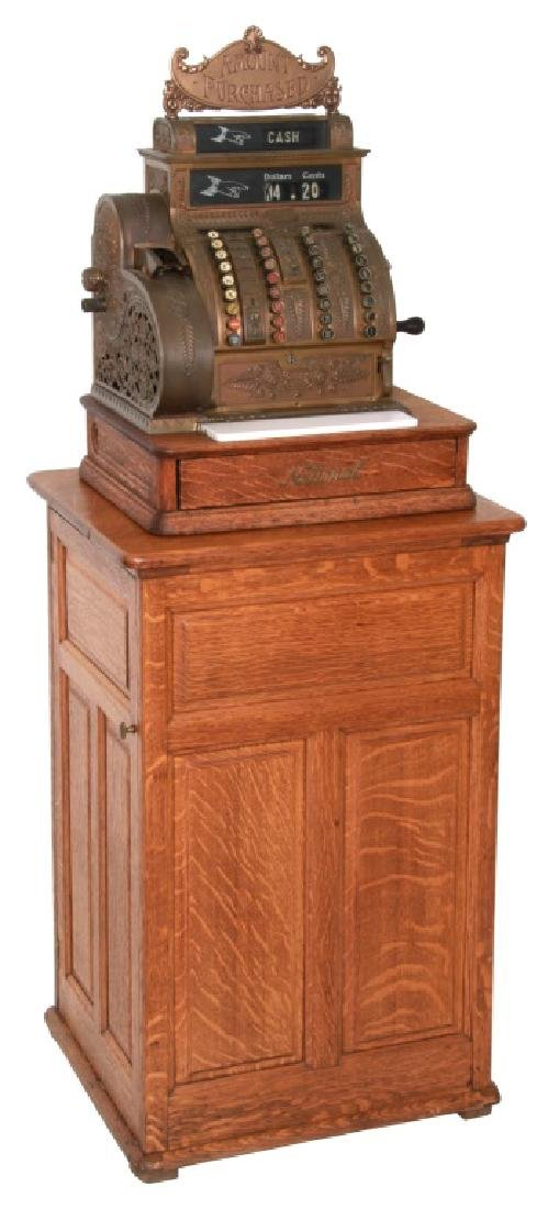 National Cash Register, Oak Stand & Receipt Box