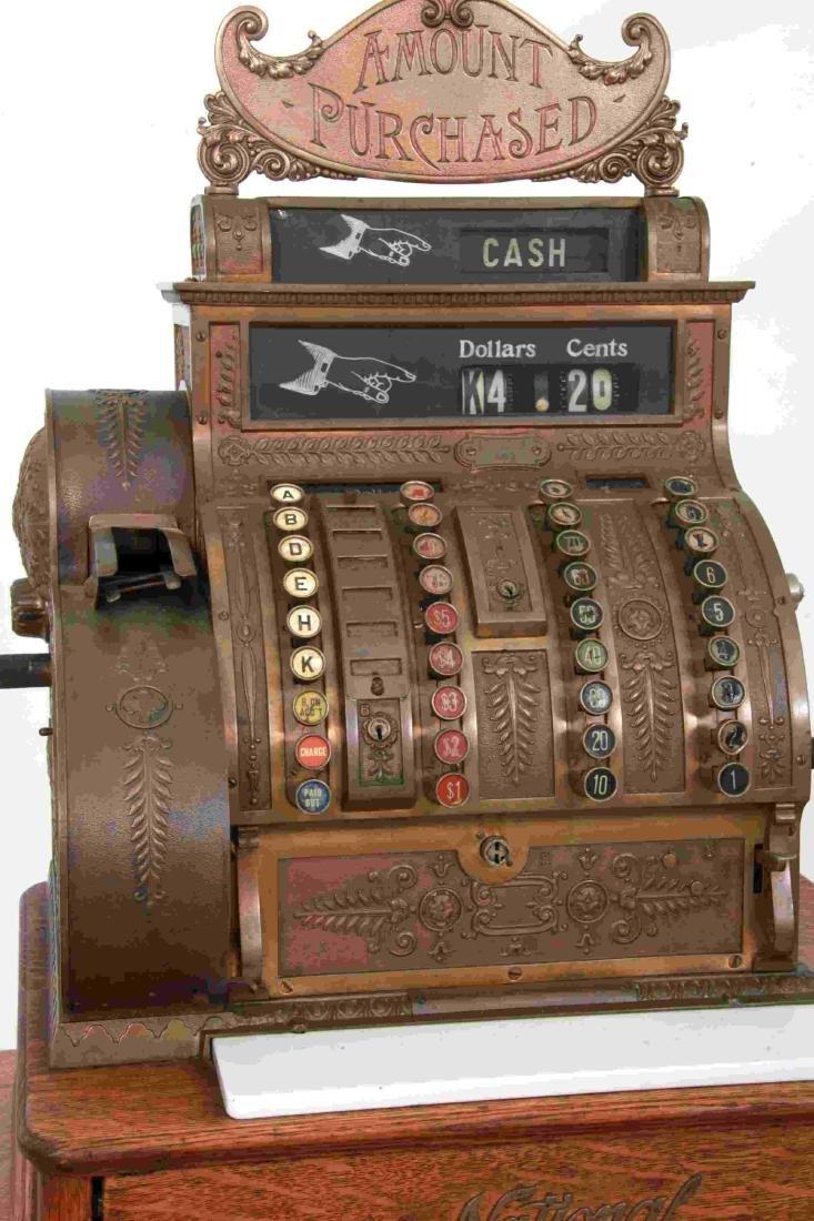 National Cash Register, Oak Stand & Receipt Box - 2